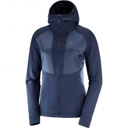 Salomon Grid Mid Full Zip Jakke Dame