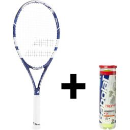 Babolat Pulsion 105 Tennisketcher + Bolde